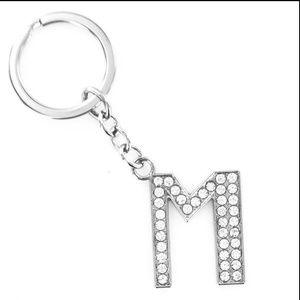 Jewelry - DIVA RHINESTONE KEYCHAIN LETTER M NEW